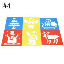 4Pcs//Set Plastic Animals Vehicles Instruments Stencil Set For Kids Gift Art