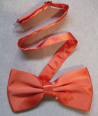 Bow Tie Mens Bowtie New Adjustable Orange Mangelware