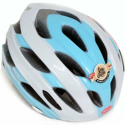 Bell Soul Road Bike 22 Vents Adult Safety Helmet with Brim Visor , Blau x Weiß