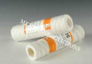 """Whole House String Wound Sediment Water Filter Cartridge 2.5/"""" x 10/"""" 20 μm"""