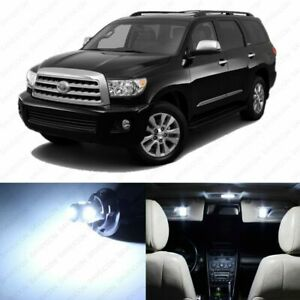 20 x White LED Interior Lights Package For 2008 - 2021 Toyota Sequoia + PRY TOOL