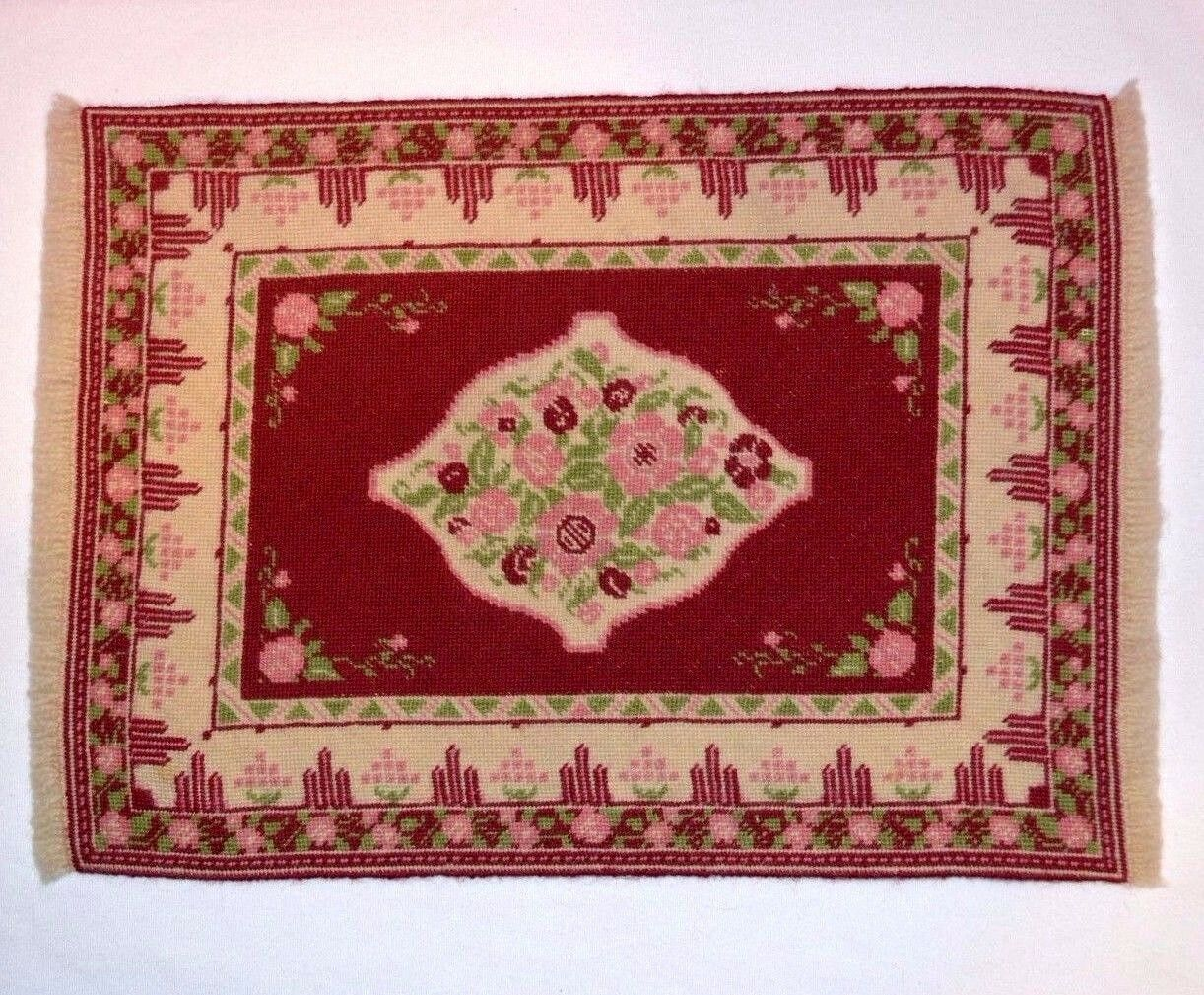 Dollhouse Miniature Petit Point Carpet Rug 1:12 HUGE 15  Lucy Iducovich
