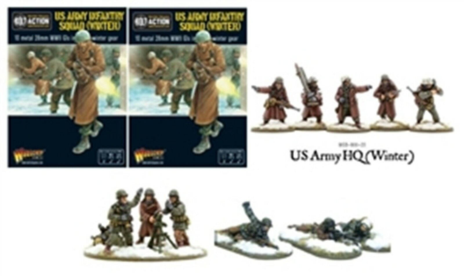 NEW BOLT ACTION MINIATURE US ARMY INFANTRY WINTER PLATOON COLLECT COLLECT COLLECT AD-US-WINTER 1c19dc