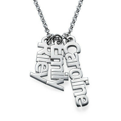 Personalized Vertical Name Necklace in Sterling Silver - Customize it!