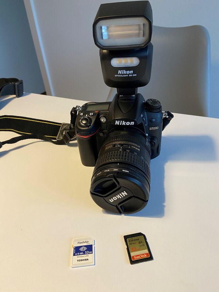 Nikon D7000 + 16-85mm VR lens, 16 megapixels, Perfekt