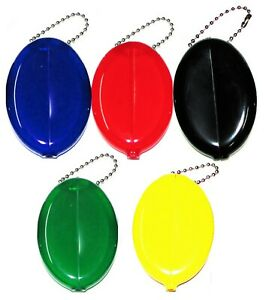 Oval Squeeze Coin Purse 5 Unit Set | New Rubber Squeeze Coin Holders Made in USA