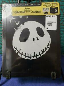 The-Nightmare-Before-Christmas-Blu-ray-Digital-GLOW-IN-THE-DARK-STEELBOOK-NEW