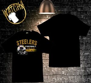 Image is loading Pittsburgh-Steelers-Football-Image-Black-T-Shirt 0f2601368