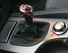 Per BMW E60 E61 2003-10 Leva Del Cambio Gaiter Nero Vera Pelle