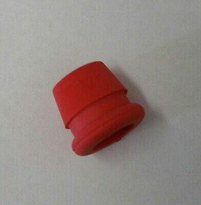 NEW 10 mm WHITE rubber slip in funnel style grommet Pack of 5 Made in USA
