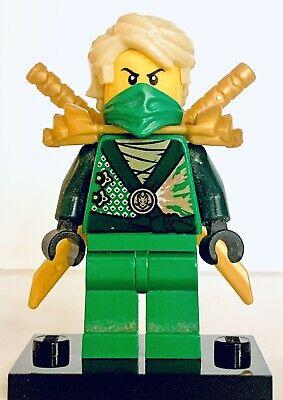 Lego Ninjago LLOYD REBOOTED MINIFIGURE Green Ninja #70722 Gold Armour Swords E20
