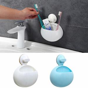 regalbadkorb mit saugnapf duschregal duschkorb aufbewahrung wand ablagefach fall ebay. Black Bedroom Furniture Sets. Home Design Ideas