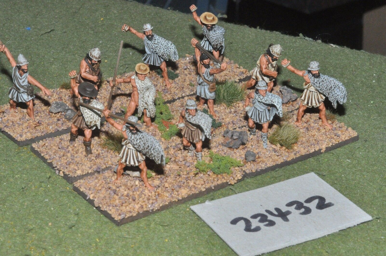 25mm classical   greek - light 12 figures plastic - inf (23432)