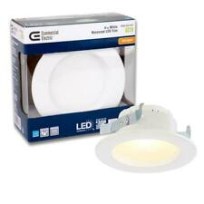 4 In White Integrated Led Recessed Can Light Trim 2700k 4 Pack