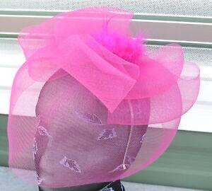 hot-pink-feather-fascinator-millinery-burlesque-headband-wedding-hat-race-ascot