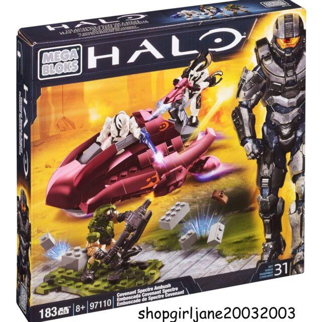 Mega Bloks Blocks - Halo Covenant Spectre Ambush - 183 Pieces - Brand new #97010