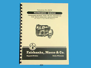 fairbanks morse magneto instruct & parts manual for fm je4 & fm jfe2 fairbanks morse magneto repair image is loading fairbanks morse magneto instruct amp parts manual for