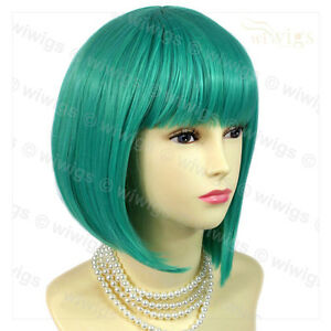 Stunning-Cosplay-Jade-Green-mix-Bob-Style-Short-Ladies-Wigs-from-WIWIGS-UK