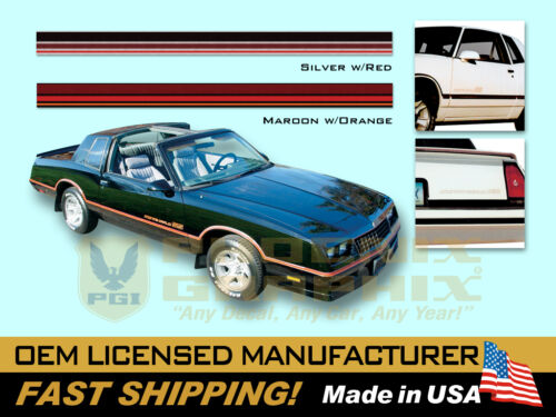 1985 1986 Chevrolet Monte Carlo SS Super Sport Decals /& Stripes Kit