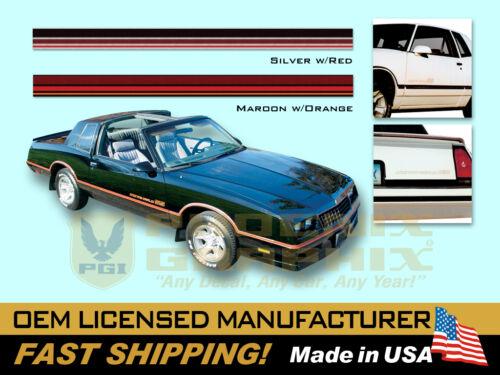 1985 1986 Chevrolet Monte Carlo SS Super Sport Decals /& Stripes Kit