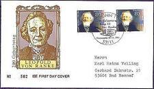 BRD 1995: Leopold von Ranke! FDC der Nr 1826! Gelaufen!