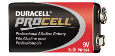 Duracell Procell 9 Volt Batteries - Sold in Boxes of 12