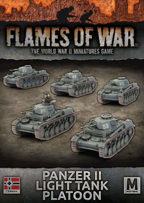 Flames of War - Panzer Ii Platoon (X5) - German - GBX108