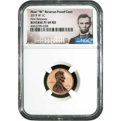 """2019 W First /""""W/"""" REVERSE Proof Cent FIRST RELEASES NGC 69 RD LINCOLN Label"""