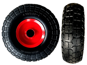 """10/"""" PUNCTURE PROOF SACK TRUCK TROLLEY WHEEL 4.10 3.50-4 SOLID TYRE 16MM BORE"""