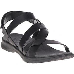 64dabcb688f0 Image is loading Merrell-Sunstone-Cross-Leather-Sandal-Women-039-s-