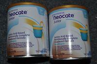 2 Cans Neocate Junior Chocolate Nutricia Powder Jr Formula 14.1oz Aecm