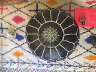 Beautiful Authentic Moroccan Leather Ottoman or Pouf or Pouffe