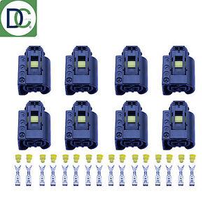 8-x-Mercedes-E-Class-Genuine-Diesel-Injector-Connector-Plug-Bosch-Common-Rail
