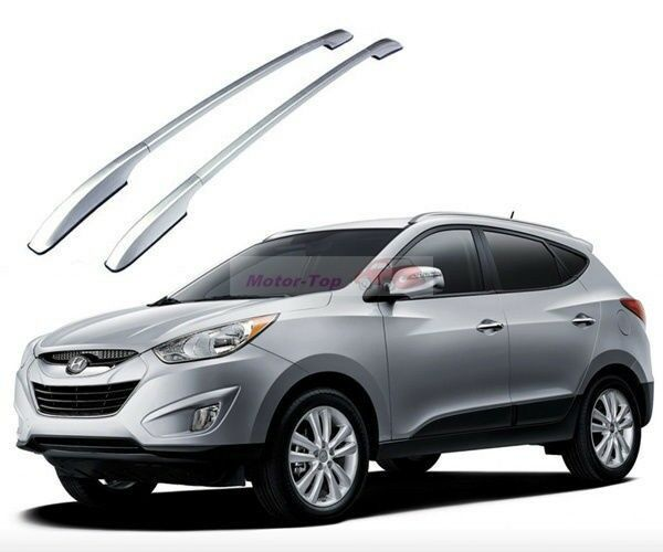 Silver Alloy Top Roof Side Rails Rack Cargo Luggage For Tucson Sportage IX35