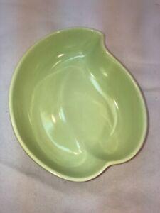 Vtg Hull USA Pottery Art Lime Green Leaf Bonsai Window Herb Garden Planter Vase