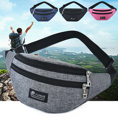 Waist Fanny Pack Belt Money Bag Pouch Travel Sport Hip Purse Men Women Bum g8