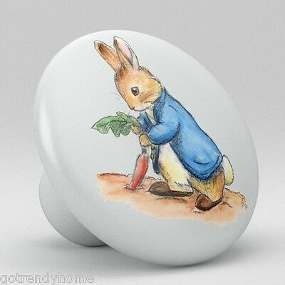 Peter Rabbit Ceramic Knobs Pulls Kitchen Drawer Cabinet Vanity Closet 488 Pantry