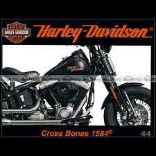 HARLEY-DAVIDSON N°44 ★ FLSTSB 1584 CROSS BONES ★ GREASE MONKEY INDIAN LARRY MOTO
