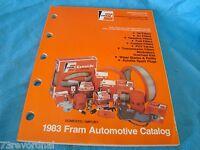 Fram 1983 Filter Oil Gas Pvc Catalog Application Guide Cars Light Trucks
