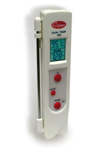 Thermometer zur Infrarot Oberflächen Messung und Kerntemperatur Fühler Digital