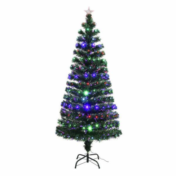 SUNCOO 6FT LED Multi-color Lights Christmas Tree Pre-Lit ...