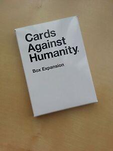 box expansion pack for cards against humanity new ebay. Black Bedroom Furniture Sets. Home Design Ideas
