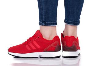 ADIDAS ZX FLUX Sneaker Damen Damenschuhe Turnschuhe Originals Rot ...