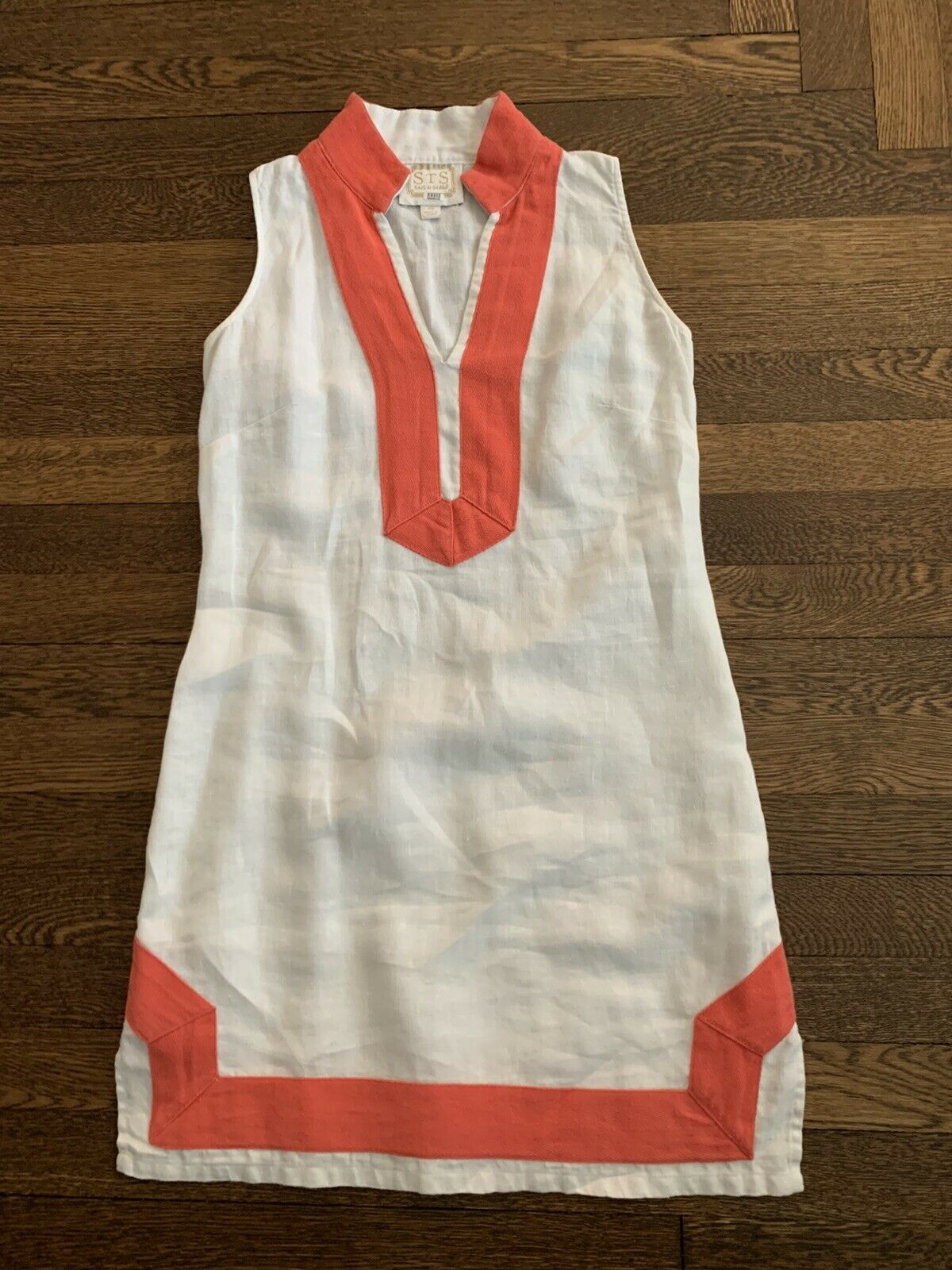 Sail To Sable Dress Linen White XS
