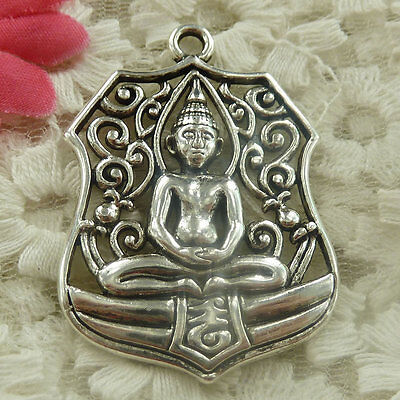 Free Ship 9 pieces Antique silver Buddha charms pendant 45x33mm H-4737