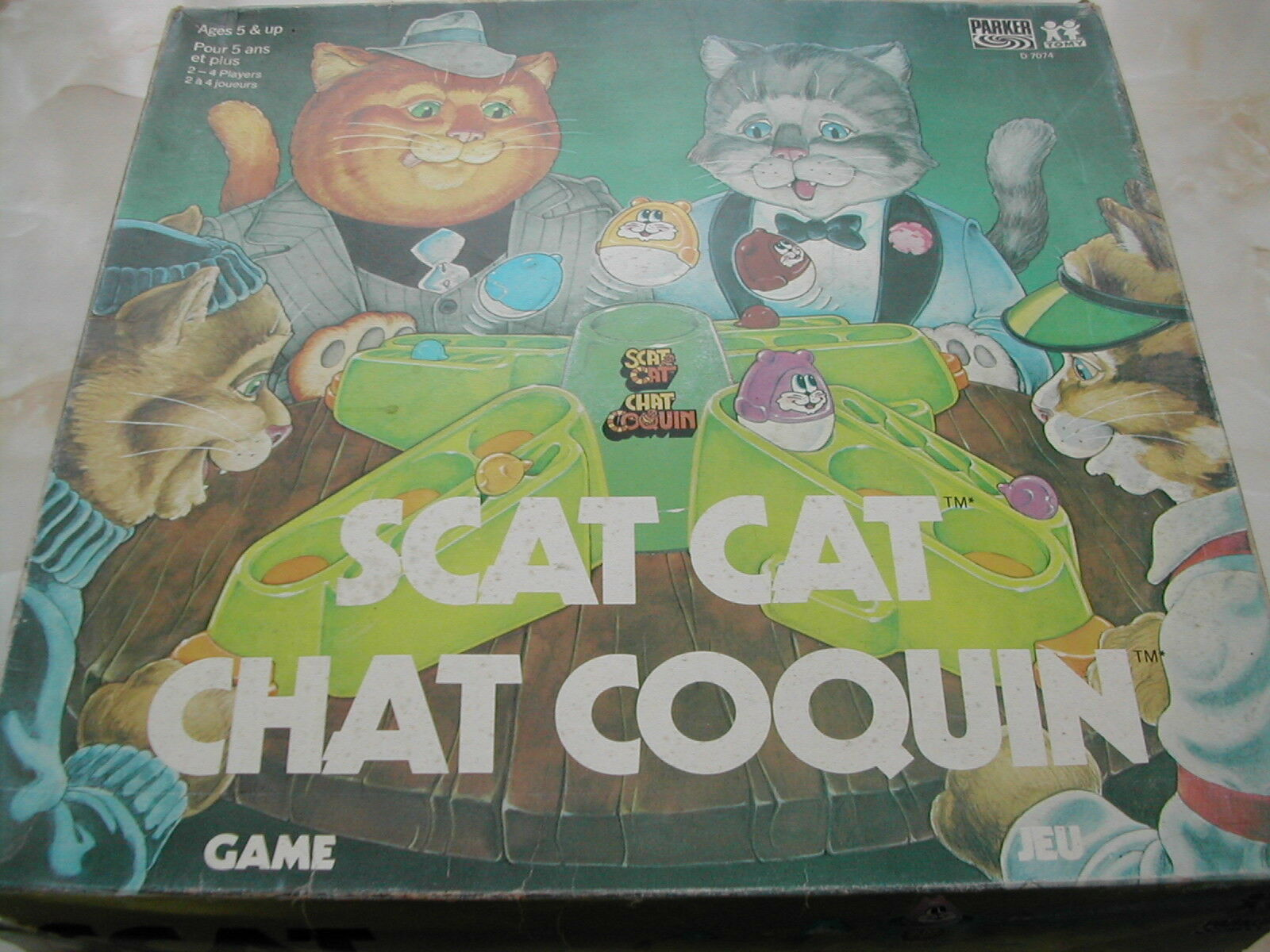 SCAT CAT GAME - SCAT CAT - PARKER - VINTAGE GAME - RARE - CHAT COQUIN - FUN GAME