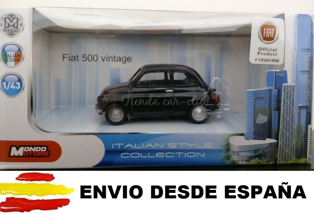 1 43 FIAT 500 CLASSIC CAR METAL TO SCALE COLLECTION DIE CAST LICENSE FIAT