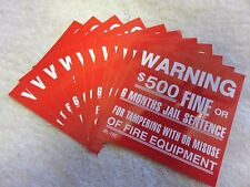 Lot Of 10 Self Adhesive Vinyl Warning 500 Fine Signs4 X 4 New