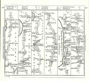 Antique-map-The-Road-from-St-Davids-to-Holywell
