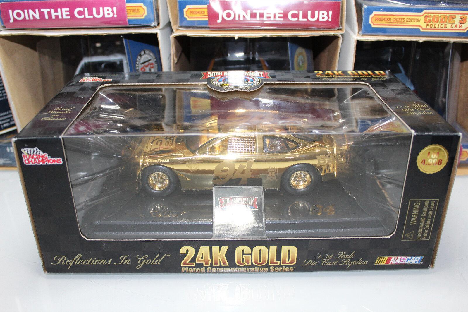 Racing Champions 1 24 Scale 24K gold BILL ELLIOTT BIG MAC (02424BT)